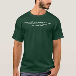 There are 10 types of people in the world:Those... T-Shirt
