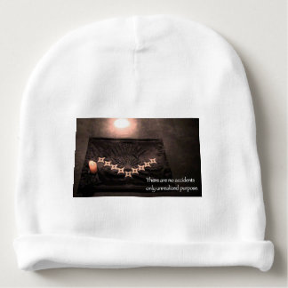 there are no accidents only unrealized purpose baby beanie
