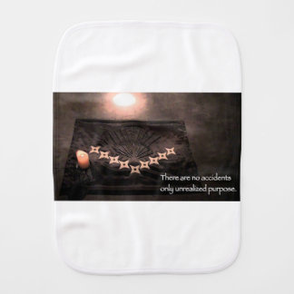 there are no accidents only unrealized purpose burp cloth