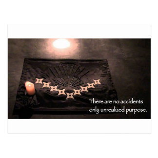 there are no accidents only unrealized purpose postcard