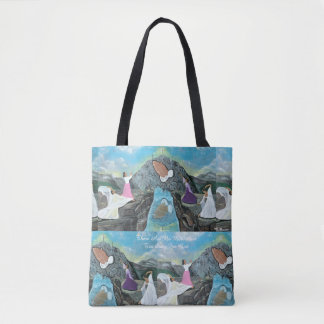 There Are No Mountains Too Steep For God Tote Bag