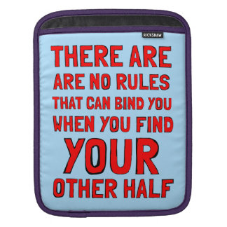 """There are No Rules"" Ipad Soft Case iPad Sleeves"