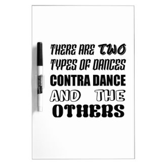 There are two types of Dance  Contra dance and oth Dry Erase Board