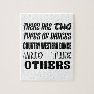 There are two types of Dance  Country Western danc Jigsaw Puzzle