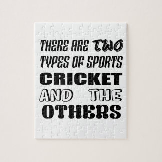 There are two types of sports cricket and others jigsaw puzzle