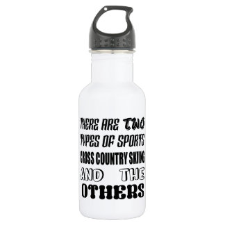 There are two types of sports Cross Country Skiing 532 Ml Water Bottle