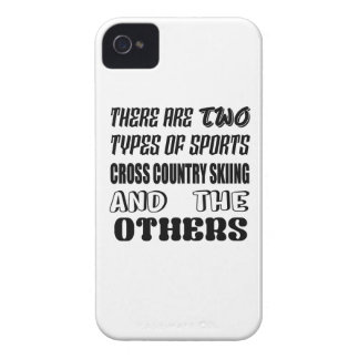 There are two types of sports Cross Country Skiing iPhone 4 Covers