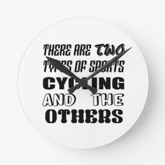 There are two types of sports Cycling and others Round Clock