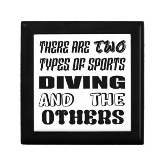 There are two types of sports Diving and others Gift Box