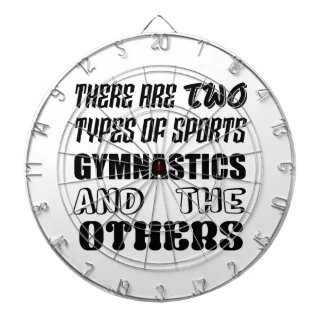 There are two types of sports Gymnastics and other Dartboard