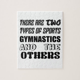 There are two types of sports Gymnastics and other Jigsaw Puzzle