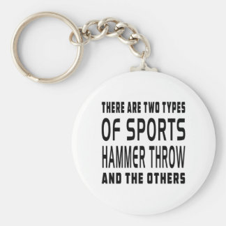 There Are Two Types Of Sports Hammer throw Key Ring