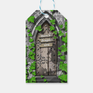There be Dragons King Arthur Medieval Dragon Door Gift Tags