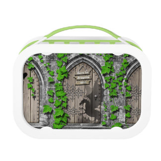 There be Dragons King Arthur Medieval Dragon Door Lunch Box