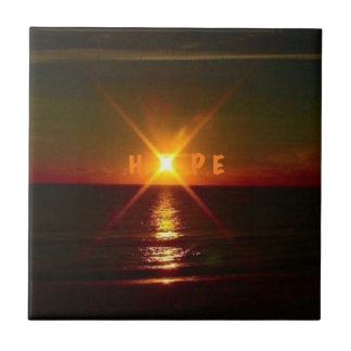 There Is Always Hope! Small Square Tile