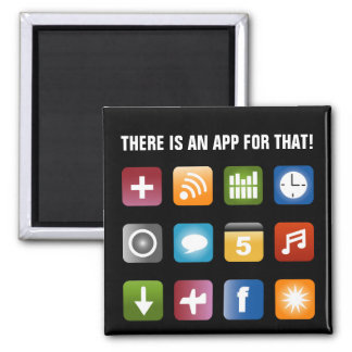 There is an app for that magnet | Vector design