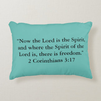 """""""There is freedom"""" Scripture Accent Pillow"""