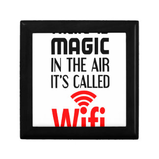 There is Magic In the air it's called wifi Small Square Gift Box