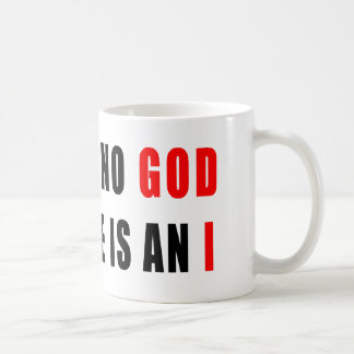 There is no god in atheist basic white mug