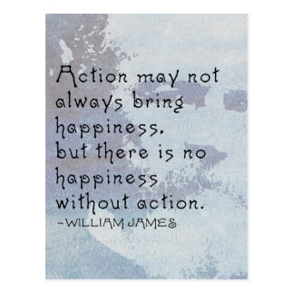 ...There is no happiness without ACTION Postcard