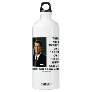 There Is No Limit What A Man Can Do Reagan Quote SIGG Traveller 1.0L Water Bottle