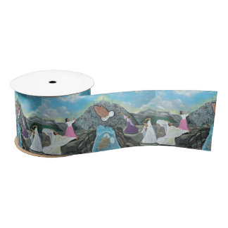 "There Is No Mountain Too Steep For God Ribbon 3"" W Satin Ribbon"