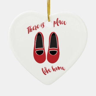 There is no place like home ceramic heart decoration