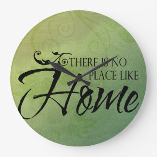 There is no place like home wallclock