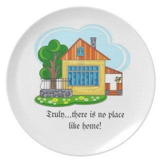 There is no place like home dinner plates