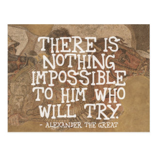 There is nothing impossible.. - Motivational Quote Postcard