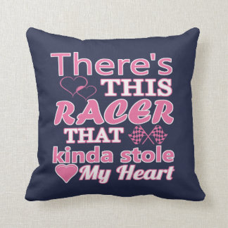 There is this racer that stole my heart cushion