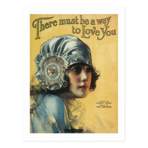 There Must Be A Way To Love You Vintage Songbook C Postcard