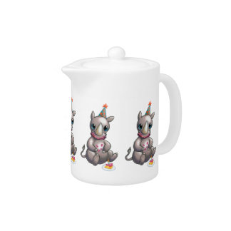 There's a New Rhino in Town Party Time Teapot