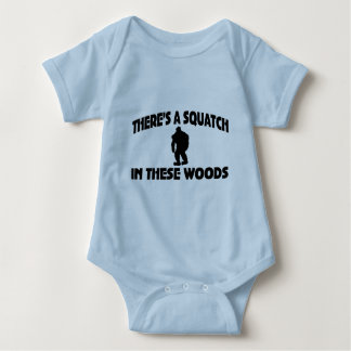 There's A Squatch In These Woods Baby Bodysuit