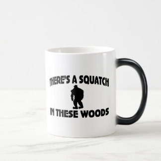 There's A Squatch In These Woods Morphing Mug