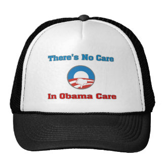 There's No Care In Obama Care Mesh Hat