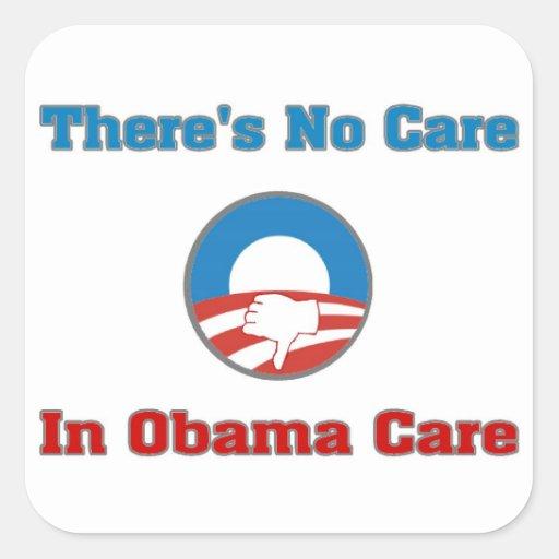 There's No Care In Obama Care Sticker