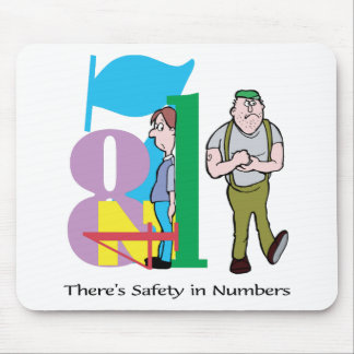 There s Safety In Numbers - Word Play Mousepad