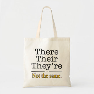 There, Their and They're. Tote Bag