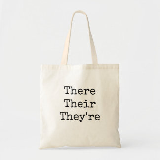 "There Their They're - ""Typed in Vintage Typewriter Tote Bag"