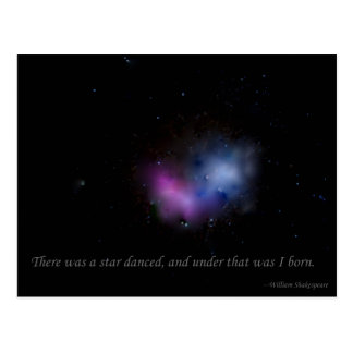 There was a star danced postcard