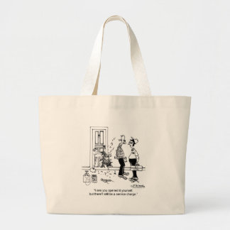 There'll still be a Service Charge Tote Bag
