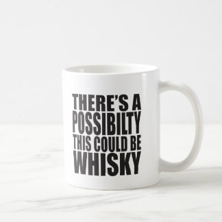 There's A Possibility This Could Be WHISKY Basic White Mug