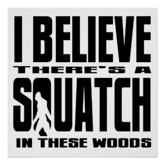 There's a SQUATCH in These Woods! Poster