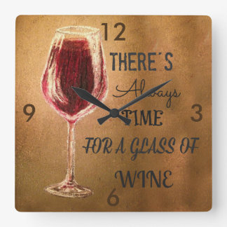 There's Always Time for Wine Clock