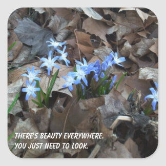 There's Beauty Everywhere Flower Sticker