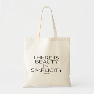 There's Beauty in Simplicity Personalized Reusable Tote Bag