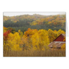 """""""THERE'S GOLD IN THOSE HILLS"""" (AUTUMN IN MICHIGAN) CARD"""