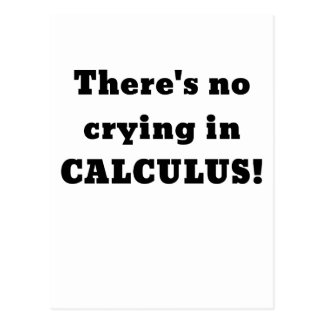 Theres No Crying in Calculus Postcard