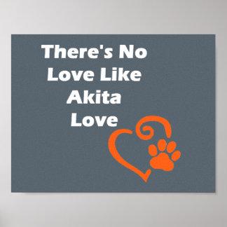 There's No Love Like Akita Love Poster